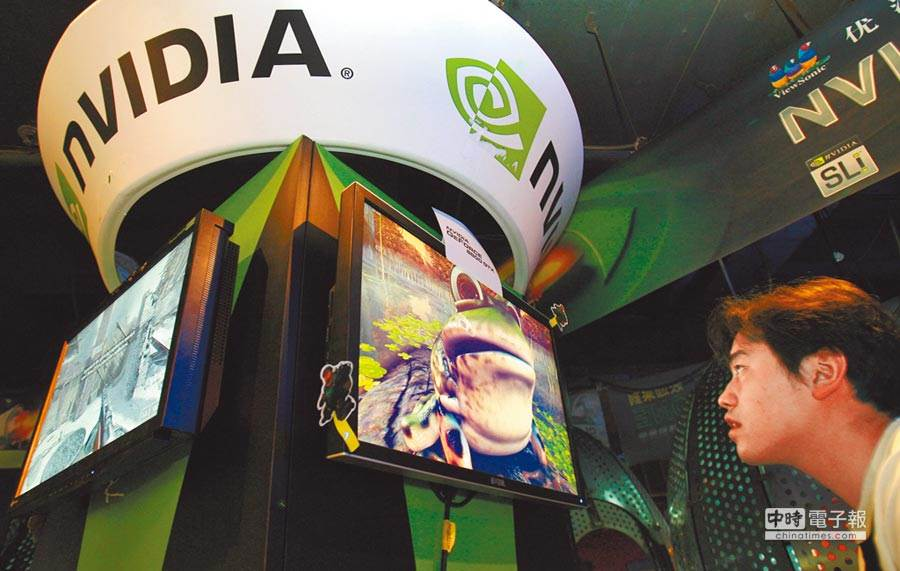 NVIDIA今年股價飆漲50%。(圖/新華社資料照)