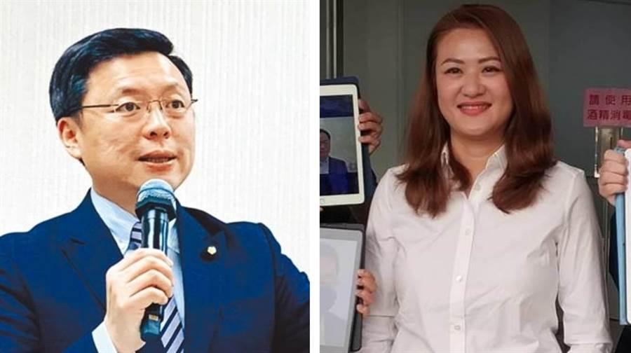 趙天麟(左)和高閔琳。(圖為中時資料照)