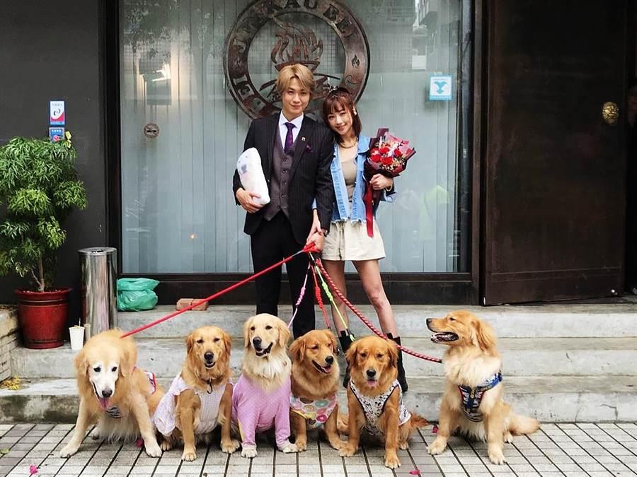 黃少谷成功向女友Yumi求婚成功。(喜歡音樂提供)