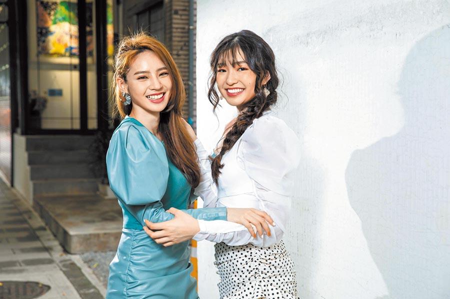 王加瑄(左)、申力安,個性熱情、外向。(石智中攝)