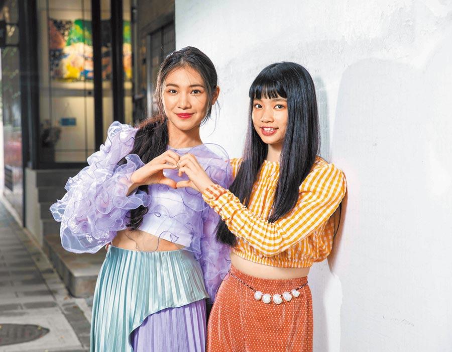李紫嫣(左)、馬瑋伶皆年僅16歲。(石智中攝)