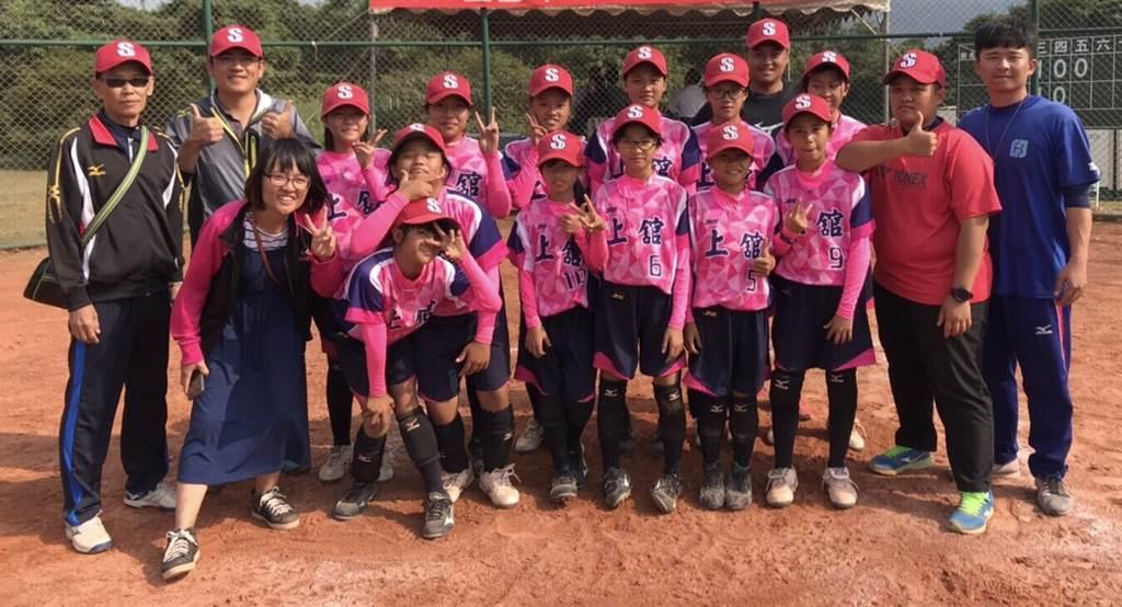 新竹縣上舘國小女棒隊參加國小聯賽女子組比賽。(學生棒聯提供/廖德修台北傳真)