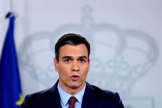 西班牙總理桑傑士(Pedro Sanchez)。(資料照/路透社)