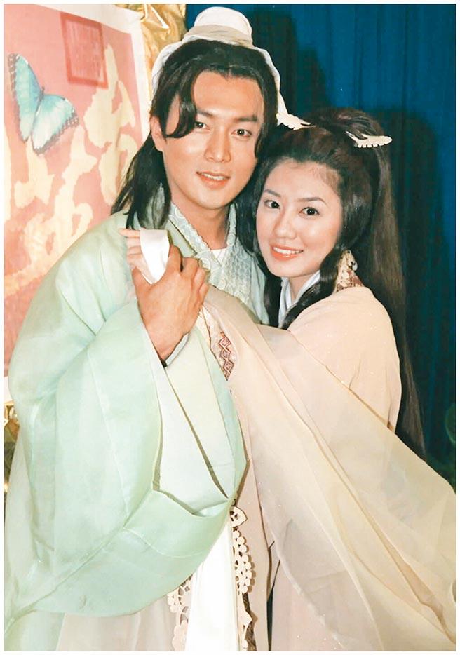 趙擎(左)曾與賈靜雯飾演梁山伯與祝英台。(資料照片)