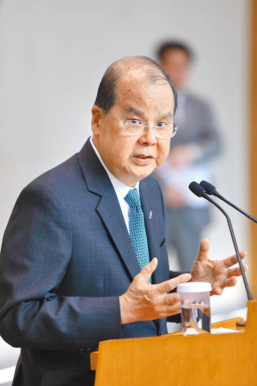 香港政務司長張建宗(圖/中新社)