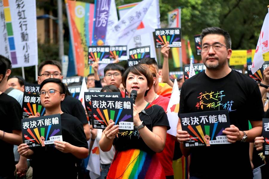 彩虹平權大平台期待推動包括「共同收養」、「人工生殖」、「跨國同婚」等平權修法,並研議保障同志社群的「平等法」。(彩虹平權大平台提供/林良齊台北傳真)