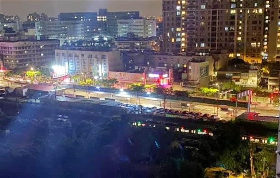 台鐵南下1267車次23日深夜在桃園高城路段發生碰撞事故。(台鐵提供)