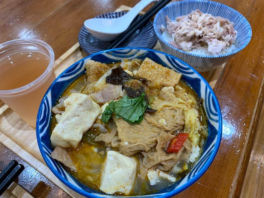 「林聰明沙鍋魚頭」為前總統準備的套餐都是他每來必吃的指定餐點。(呂妍庭攝)