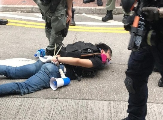 香港反國安法遊行爆衝突 警逮150人 港府譴責暴行