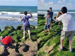 獨/超缺德!為拍照取美景 老梅綠石槽遭遊客踐踏