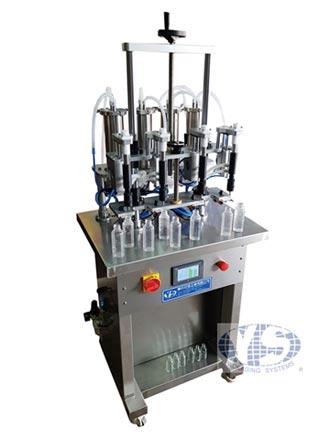 盧氏亞信液體填充機 四頭連續填好填滿