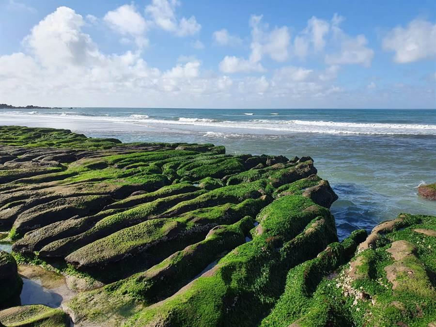 綠石槽是北海岸每年3到5月季節限定特殊景觀。(照片/讀者提供)