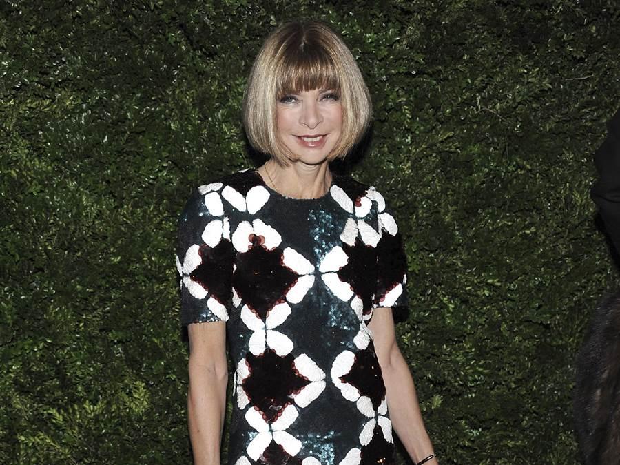 美國版《Vogue》雜誌總編輯安娜溫圖(Anna Wintour)。(美聯社)