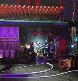 台中宮廟供桌冒火 波及豬腳攤
