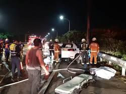 大園自撞車禍燒死3人 警方釐清是否酒駕肇事