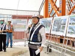 桃園綠線捷運 高架橋面年底成形