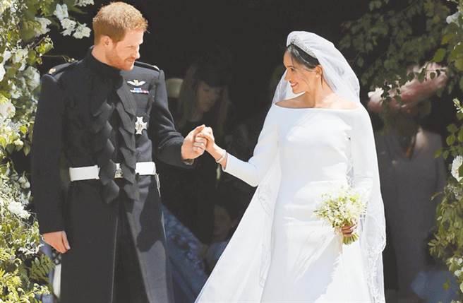 英國哈利王子與妻子梅根在日前(5/19)歡慶結婚兩周年。(圖/美聯社)