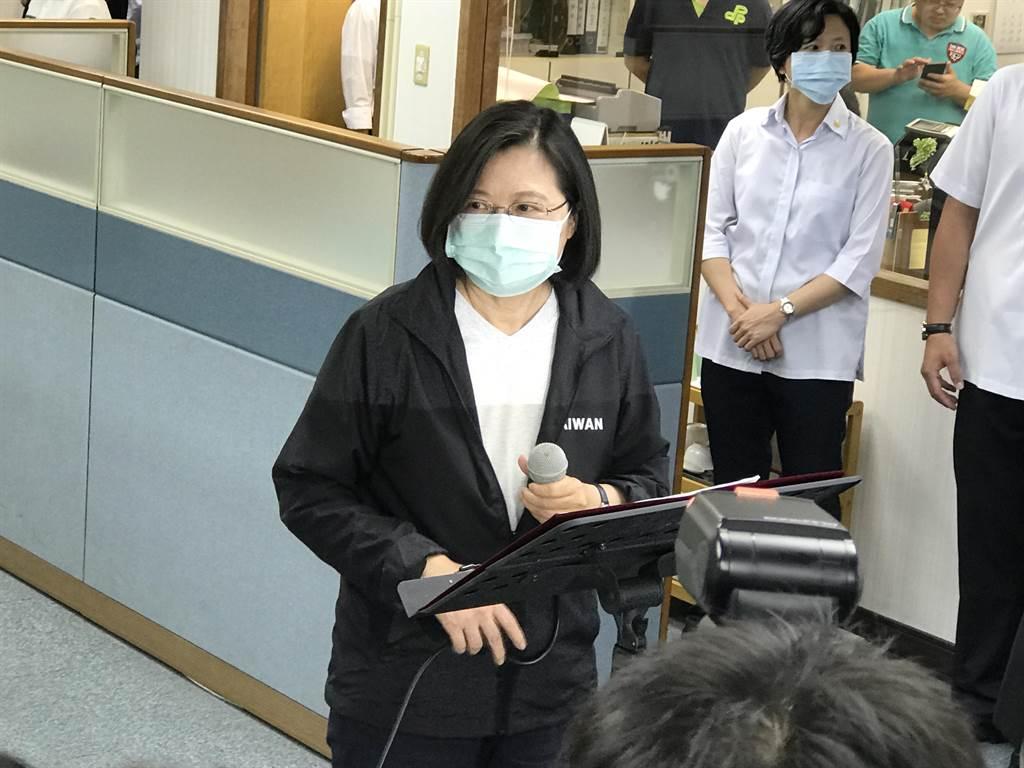 放寬移民法?蔡英文:台灣法律對港人入台相對寬鬆。曾薏蘋攝