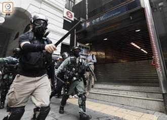 直播》港人抗議國歌法 防暴警射橡膠彈 近百人被扣