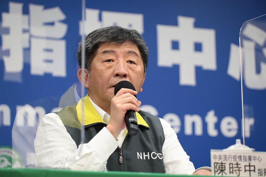 中央流行疫情指揮中心指揮官陳時中表示,台灣沒必要卑躬屈膝地參與WHA,但卻要帶著貢獻進去。(中央流行疫情指揮中心提供/林周義台北傳真)