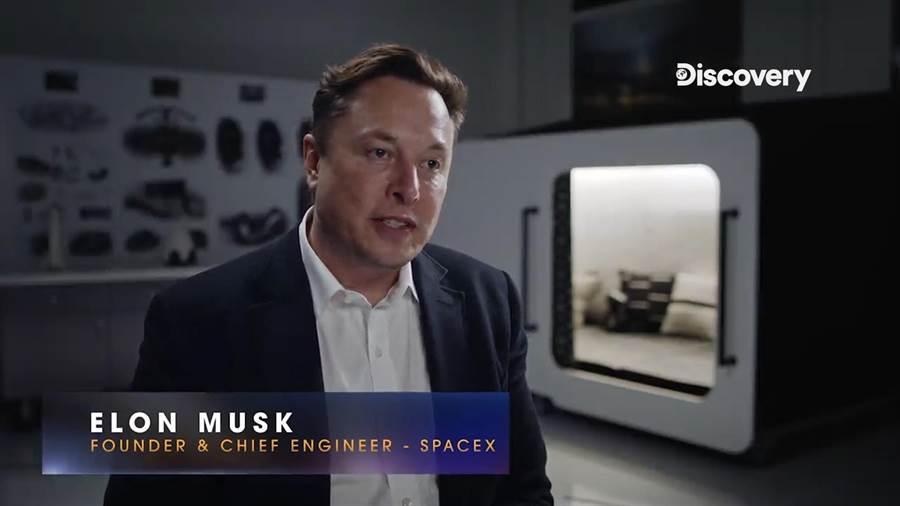 科技狂人馬斯克的公司旗下Space X公司與NASA將首次執行載人任務。(Discovery提供)