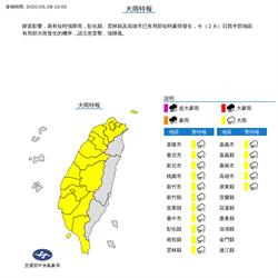 16縣市大雨特報 局部地區嚴防豪雨