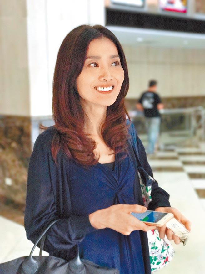 吳朋奉前女友久保寺淳子曾經在台灣演藝圈發展,但演出機會不多。(林淑娟攝)