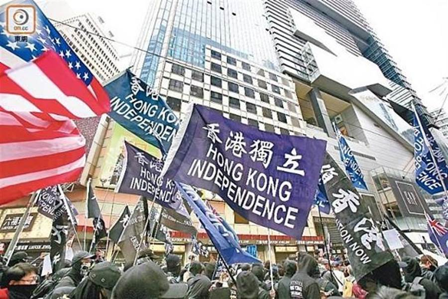 香港示威浪潮持續。(圖/東網)