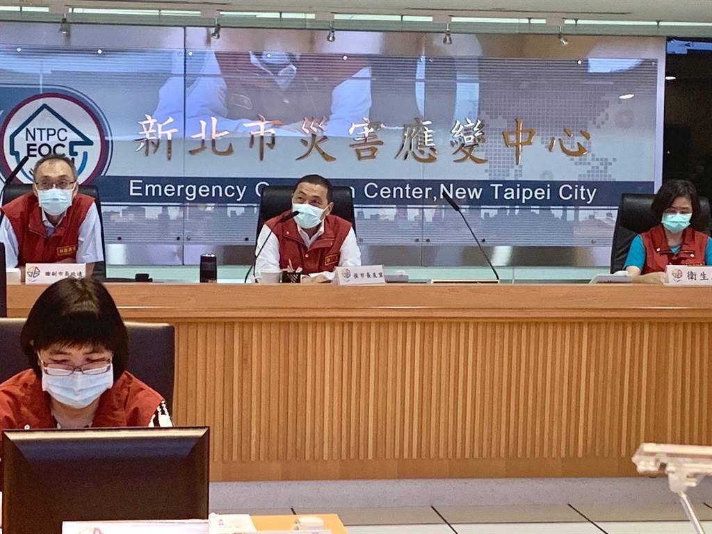 新北市今上午召開防疫應變會議。(許哲瑗攝)