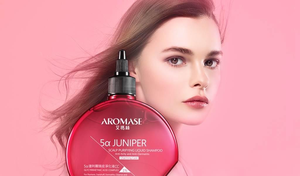 AROMASE艾瑪絲與愛康合作的新商品「捷利爾頭皮淨化液CC」。(圖/品牌提供)
