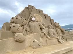 沙雕季明登場!55公尺巨人躺沙灘超壯觀