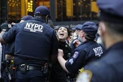 抗議騷亂後 美警強勢清場 水砲車壓陣