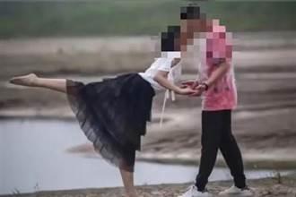 情侶河邊「芭蕾之吻」美翻 照片流出真相曝光「女主角是小三」