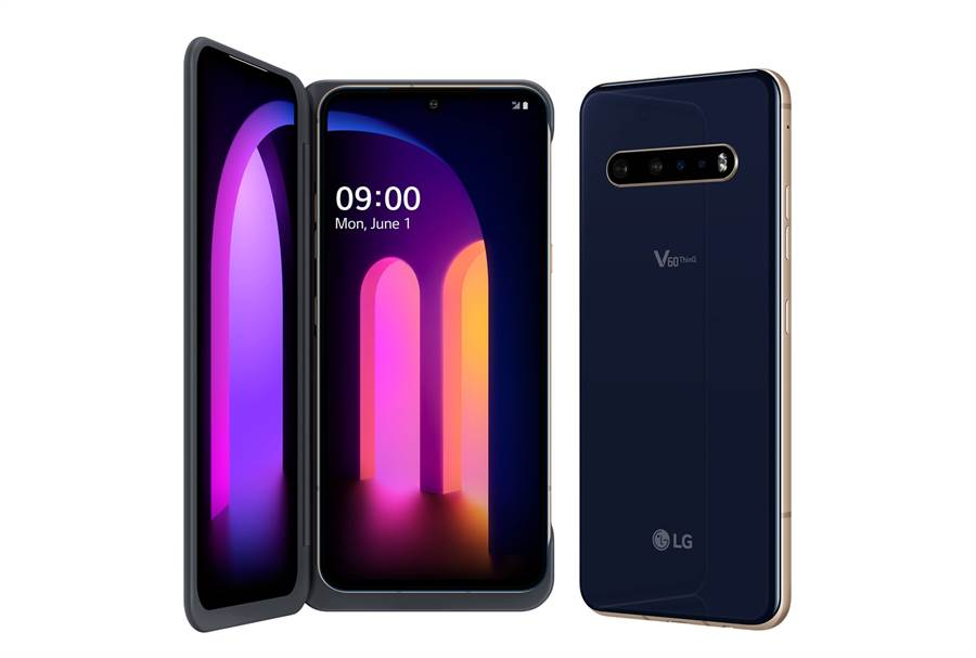 LG 首款 5G 雙螢幕手機 V60 ThinQ 5G Dual Screen,為消費者開啟全新 5G 行動生活體驗。(LG提供/黃慧雯台北傳真)