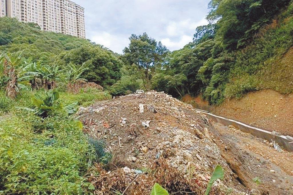 內政部29日表示,已清運挖掘出的垃圾;但新莊區丹鳳里長林永傑說,該地有大量廢棄物,內政部應該清運全部的垃圾。(戴上容攝)