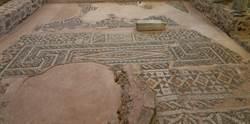 葡萄園底下挖出公元3世紀豪宅 馬賽克地磚像新的