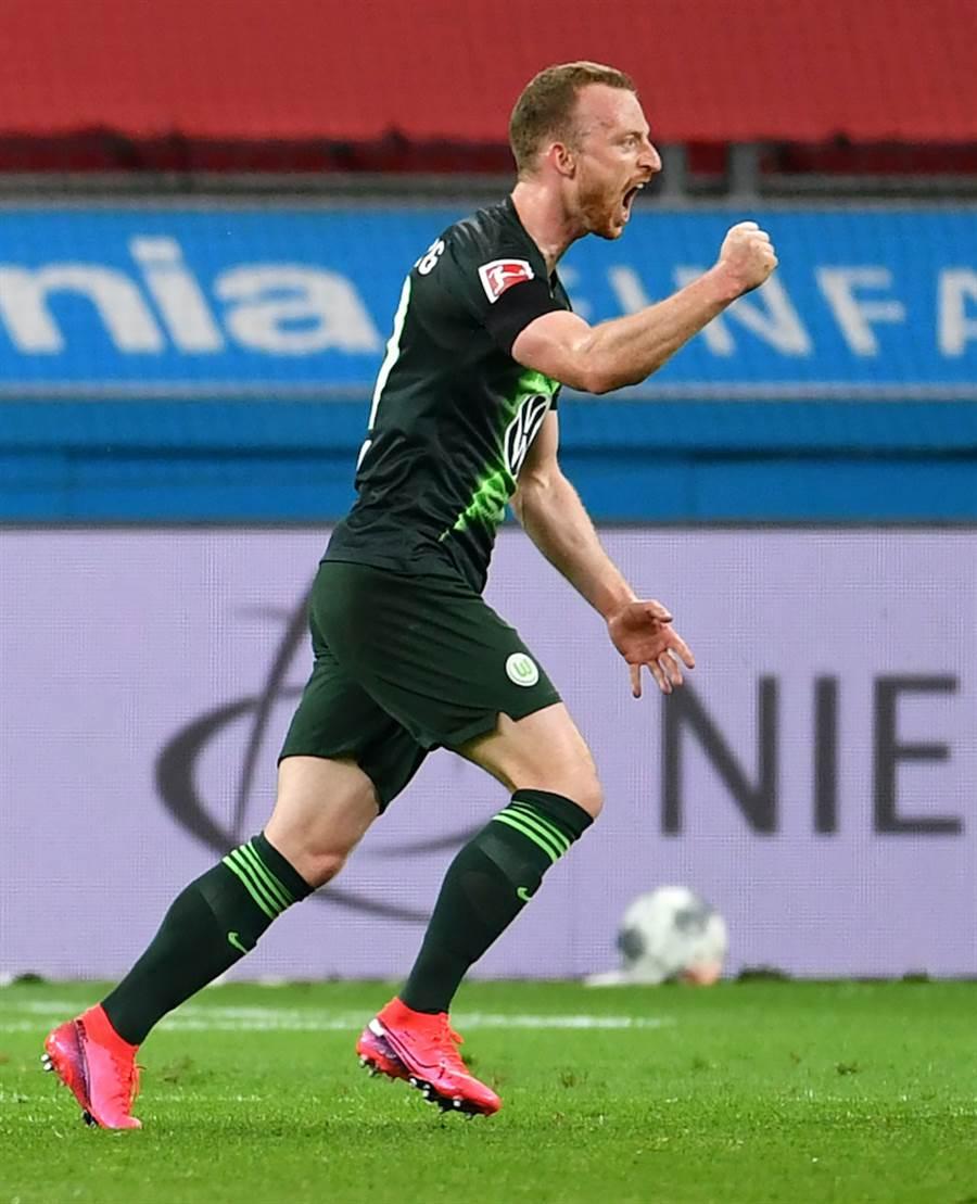 沃夫斯堡中場MaximilianARNOLD表現突出上場打進了1球(圖片來源︰達志影像)