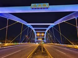 台中夜美麗!虹揚、福安雙橋燈光美景吸睛