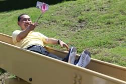全台最大堤坡滑梯樂園今開放 侯友宜樂體驗:屁股被按摩了