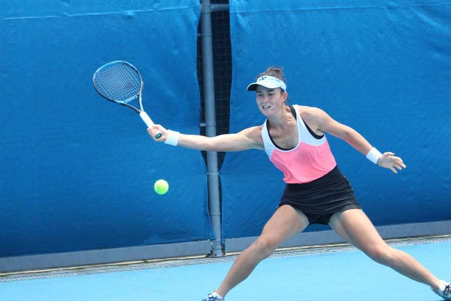 葛藍喬安娜收獲個人生涯第一座全國排名賽冠軍。(中華網協提供)