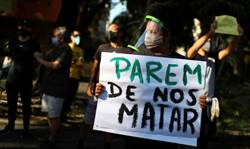 不滿黑人少年遭警擊斃  「佛洛伊德之死」示威蔓延到巴西