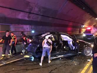 基平隧道極速競速 3輛BMW撞一團
