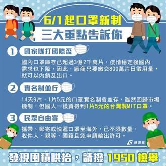 口罩出口解禁 經濟部整理3大重點