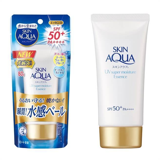 水潤肌超保濕水感防曬精華質地如化妝水般清爽,「光耐久技術」達到持久防曬,肥皂即可輕鬆卸除。(圖/品牌提供)