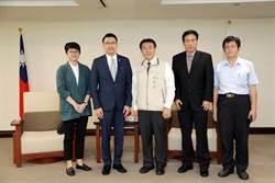 新加坡代表葉偉傑拜會台南市長黃偉哲洽談合作