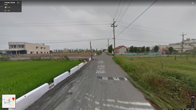 吳姓駕駛自用小客車,行經溪湖彰水路1段663巷由西向東,經過無號誌交岔路口時,並未減速慢行。(翻攝GoogleMap/吳建輝彰化傳真)