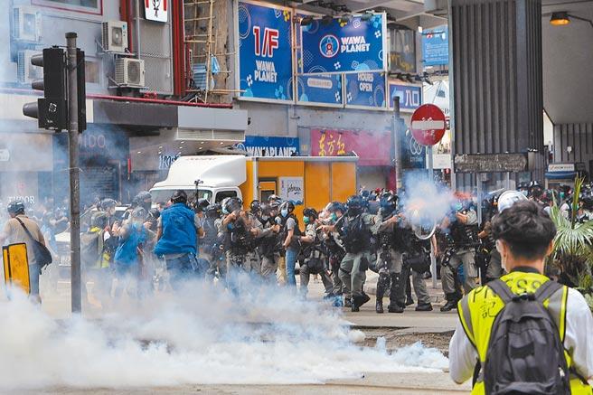 香港《國安法》的制定和推行,引爆近期一波示威活動。(中新社資料照片)