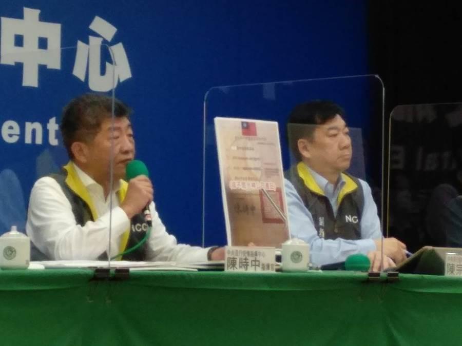 衛福部長陳時中(左)。(資料照)