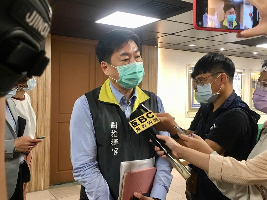 中央流行疫情指揮中心副指揮官陳宗彥表示,台北公開賽會開放觀眾入場,9月1日希望能有更多人進來為台灣選手加油。(林周義攝)