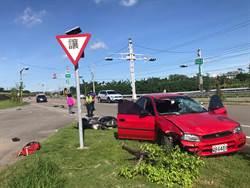 頭份北橫公路轎車撞機車 7旬老翁傷重死